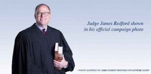 Judge Redford vies for chance to become Justice Redford