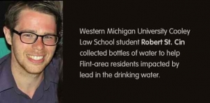 Helping hand: Law student collects bottled water for Flint