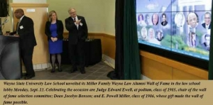 Wayne Law inducts inaugural class of 13 into Alumni Wall of Fame