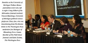 Panel of national journalists discuss the role of the press in a Trump presidency