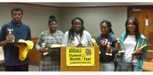 8 youths honored as Judge Marable Students of the Month