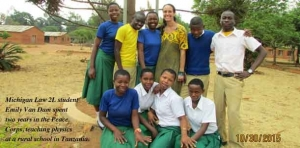 Positive impact: Peace Corps experience piqued student's interest in law