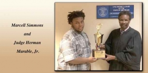 Marcell Simmons named Judge Marable Student of the Year