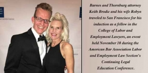With thriving practice, B and T's Brodie named to College of Labor and Employment Lawyers