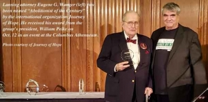 Abolitionist: Attorney, author honored with 'Journey of Hope' award