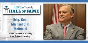 McDaniel inducted into Michigan Lawyers Weekly Hall of Fame
